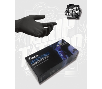 GUANTES NEGROS LATEX STARR XS