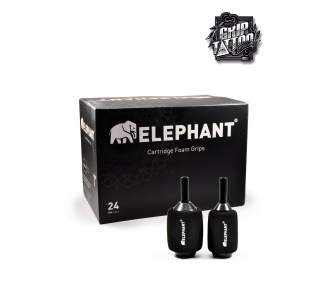 10 GRIPS DESECHABLES CON FOAM ELEPHANT 25MM