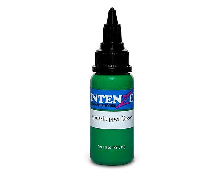 Tinta para tatuar Intenze grasshooper green 30ML
