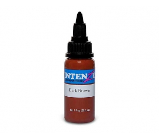 Tinta para tatuar Intenze dark brown 30ML