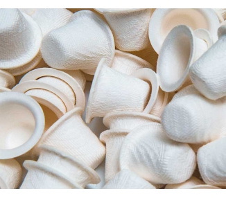 200 CUPS DE PAPEL BIODEGRADABLE 11MM