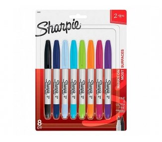 PACK DE 8 ROTULADORES SHARPIE DOBLE PUNTA FINA Y ULTRA FINA