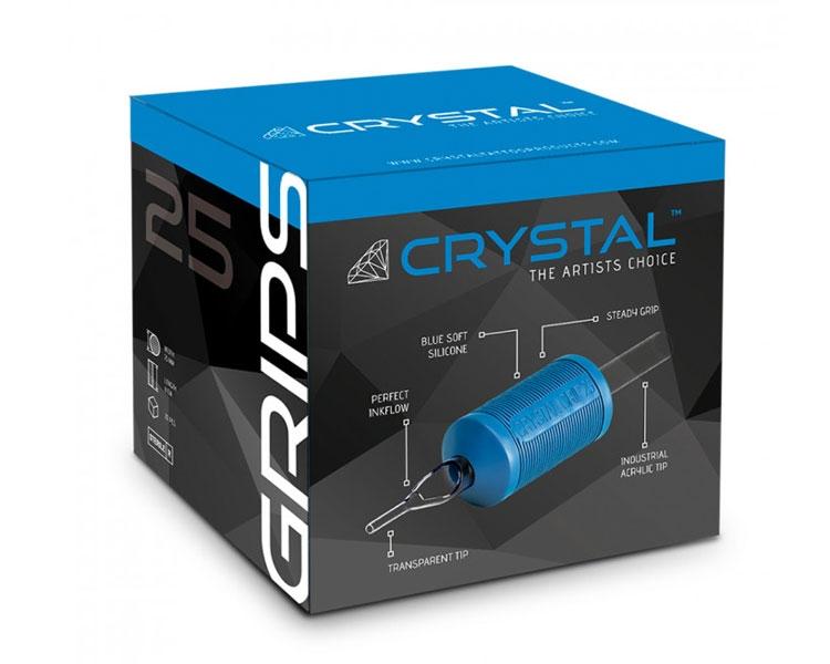 18 Round grip crystal 25mm 20uni