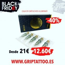 CARTUCHOS ILLUMINATI‼️ Con un 40% de descuento❕Aprovecha el BLACK FRIDAY y consigue precios increíbles.  Disponible en... www.griptattoo.es www.griptattoo.es www.griptattoo.es ➖➖➖➖➖➖➖➖➖➖➖➖➖ ILLUMINATI CARTRIDGES‼️With a 40% discount❕Take advantage of BLACK FRIDAY and get incredible prices.  Available in...  www.griptattoo.es  www.griptattoo.es  www.griptattoo.es #griptattoo #griptattoosupplies #griptattoosupply #spaintattoosupplies #tattooink #cartdriges #illuminatti #tattooproducts #spaintattoosupplies